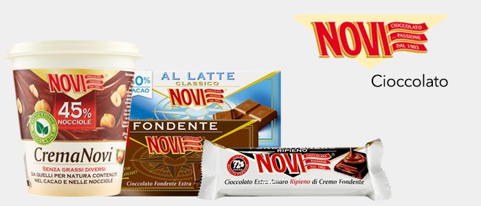 Novi Cioccolato: tavolette e barrette