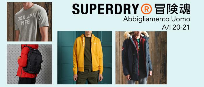 Superdry A/I 20-21: Abbigliamento Uomo