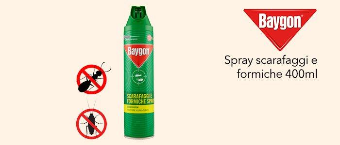 Baygon Spray scarafaggi e formiche 400ml