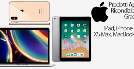Apple: iPhone XS e XS Max, iPad e MacBook Pro ricondizionati