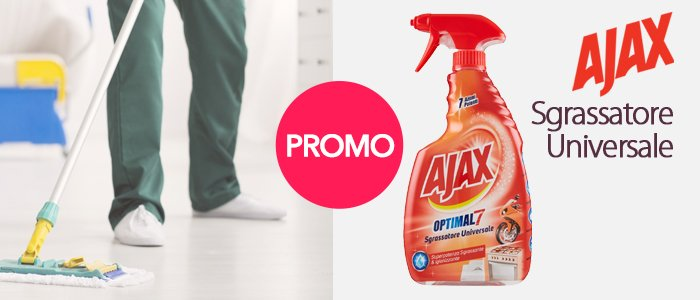 Speciale Week-End Ajax: Promozione Spray Sgrassatore Universale 600ml