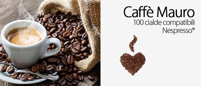 Caffè Mauro 100 Cialde Compatibili Nespresso
