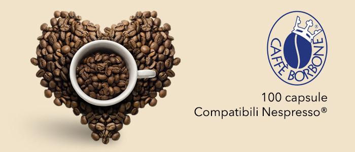 Caffè Borbone: 100 Capsule Compatibili Nespresso