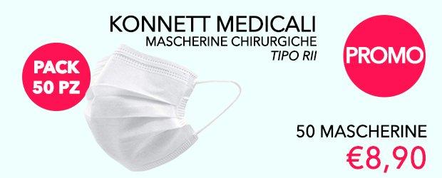 Promozione: 50 Mascherine Konnett Tipo IIR Medicali