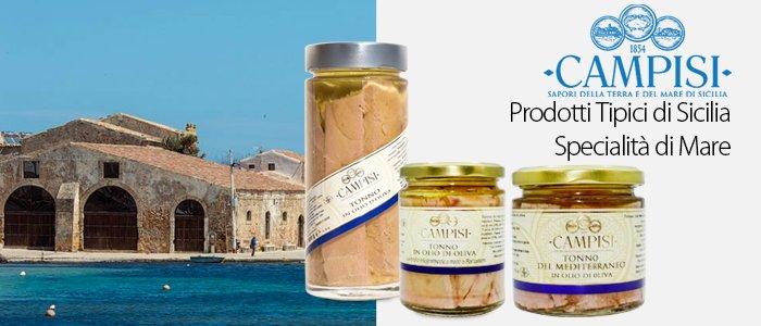 Campisi Conserve: Prodotti Tipici di Sicilia Specialità di Mare da Marzamemi