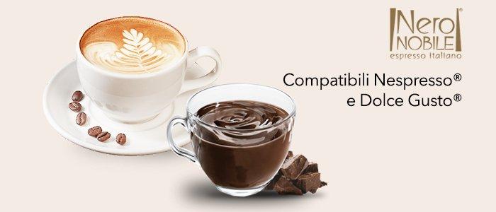NeroNobile Capsule Compatibili Nespresso e Dolce Gusto