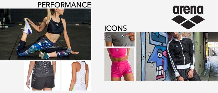 Arena Icon e Performance: abbigliamento sportivo uomo/donna