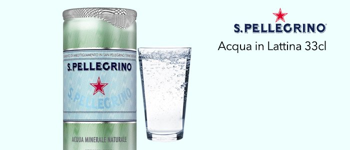 Acqua San Pellegrino Pack 24 Lattine 33cl