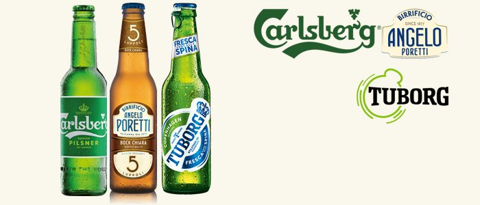 Birre 33cl: Angelo Poretti, Carlsberg e Tuborg