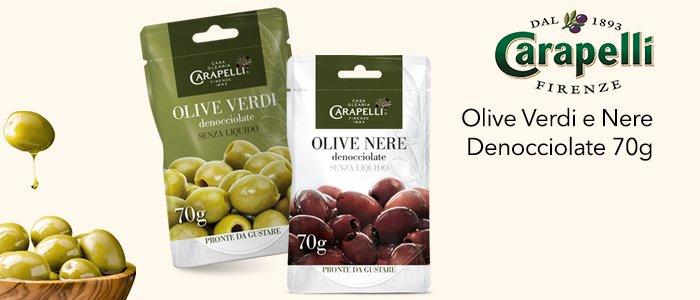 Carapelli Olive Verdi e Nere Denocciolate 70g