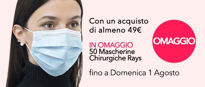 PROMO 50 Mascherine Rays in omaggio con una spesa di almeno 49€