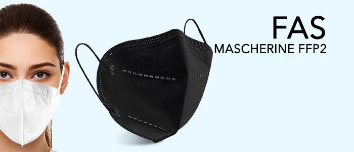 FAS Mascherine FFP2 Made in Italy Bianche e Nere