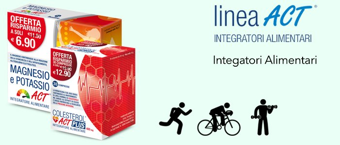 Linea Act Colesterol Act Forte e Magnesio Potassio Act