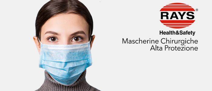 PROMO Rays: 100 Mascherine chirurgiche a € 9,90