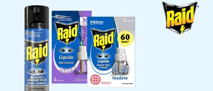 Raid: insetticidi e ricariche