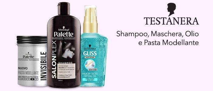 Testanera: Shampoo, Maschera, Olio e Pasta Modellante