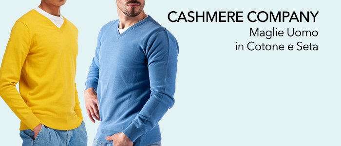 Cashmere Company Maglie Uomo in Cotone Seta