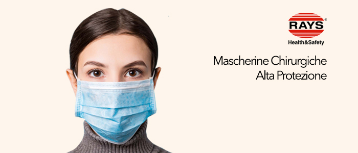 PROMO Rays: Mascherine Chirurgiche 50 pezzi