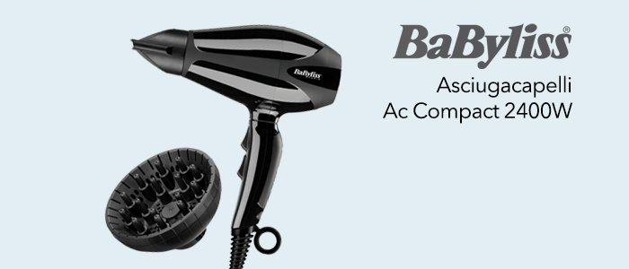 BaByliss Asciugacapelli AC Compact Pro 2400W