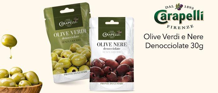 Promo Carapelli: Olive denocciolate verdi e nere