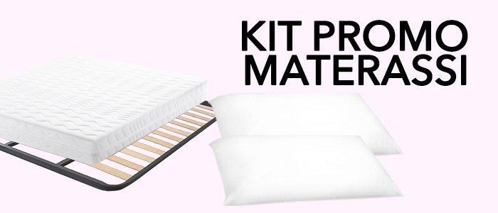 Promo Kit Materasso, doghe e cuscini