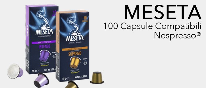 Meseta Capsule Compatibili Nespresso